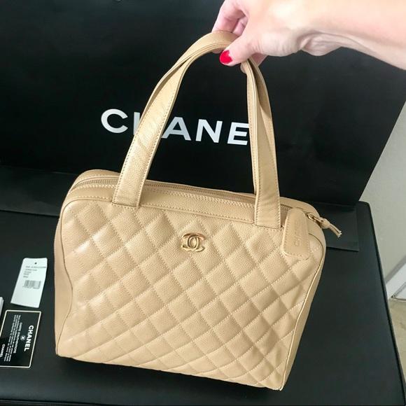 32ea9076da6cc0 CHANEL Handbags - Chanel Beige Caviar CC Camera Bag Purse Large